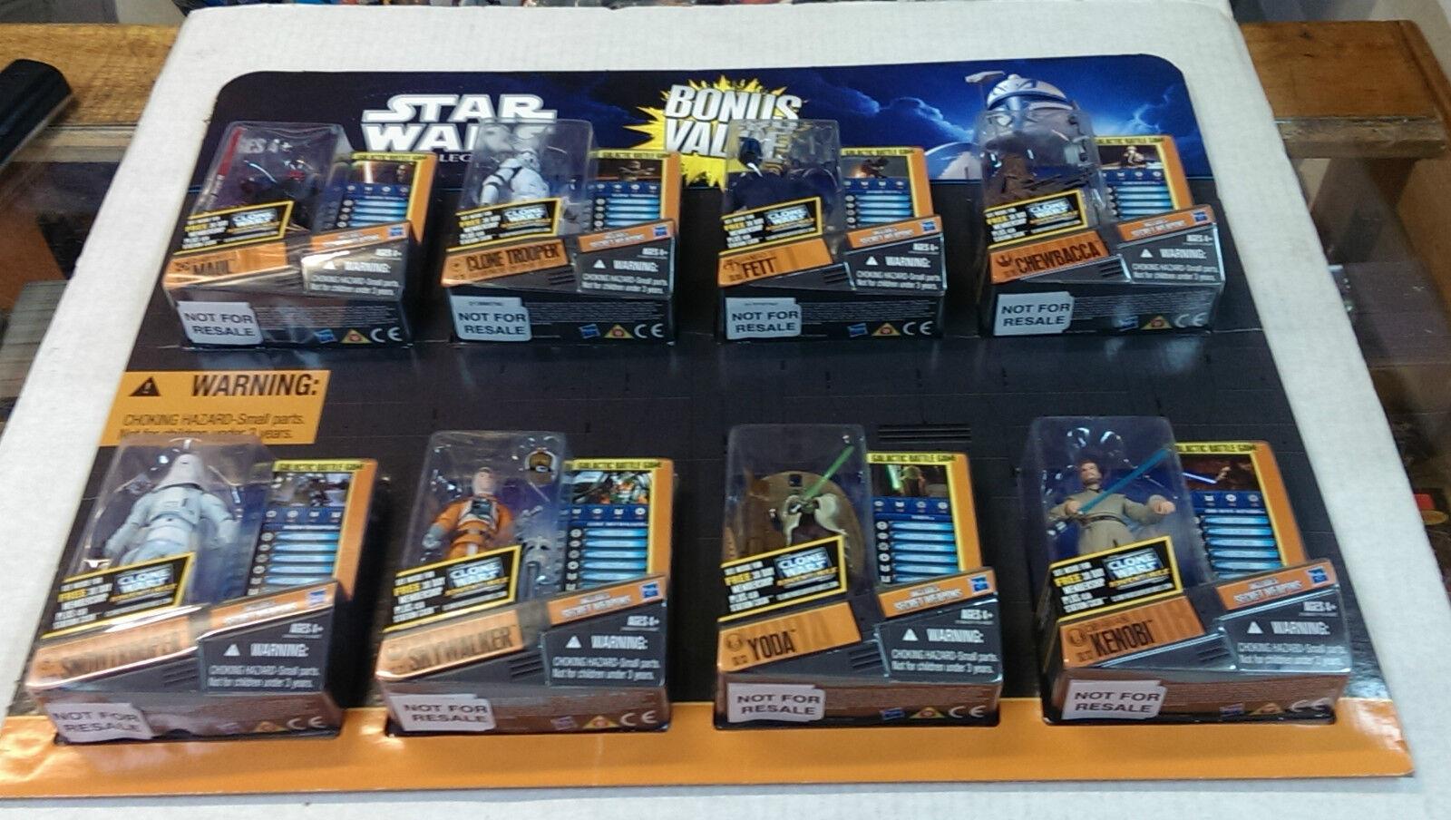Star Wars Clone Wars valor de bonificación ocho Pack Menta en tarjeta
