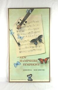 Vintage-James-Aponovich-Listed-Signed-Lithograph-Print-NH-Symphony-Orchestra