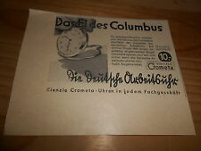 original Werbung Reklame Annonce Kienzle Uhr Crometa ca. 40er Jahre