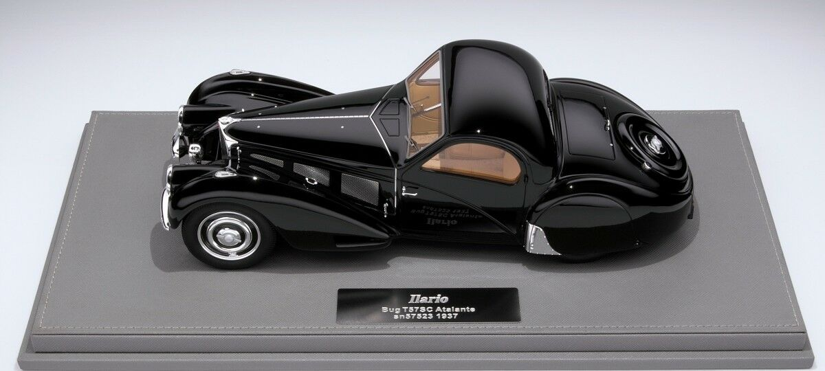 1 18 Ilario Bugatti T57SC Atalante (negro) Limited 30 pcs. WITH DAMAGED VITRINE