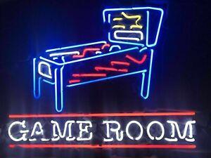 24-034-X24-034-Pinball-Machine-Game-Room-Beer-Bar-Real-Neon-Sign-Light-FAST-FREE-SHIP