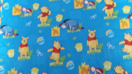 Winnie the phoo with eore and hunny pot fabric 44ins wide per fat quarter 22x18