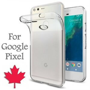For-Google-Pixel-Case-Crystal-Clear-Thin-Soft-TPU-Transparent-Back-Cover