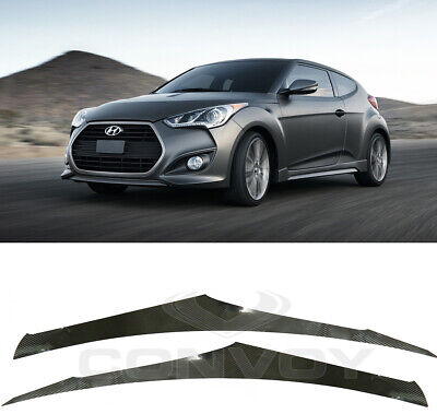 Side Line Decals Sticker Carbon Fabric Black 4p For 2011-2016 Hyundai Veloster