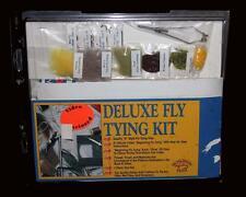 Vtg Fishing SKYKOMISH FLIES Deluxe Fly Tying Kit Tool Set Vise Feathers Etc NIP
