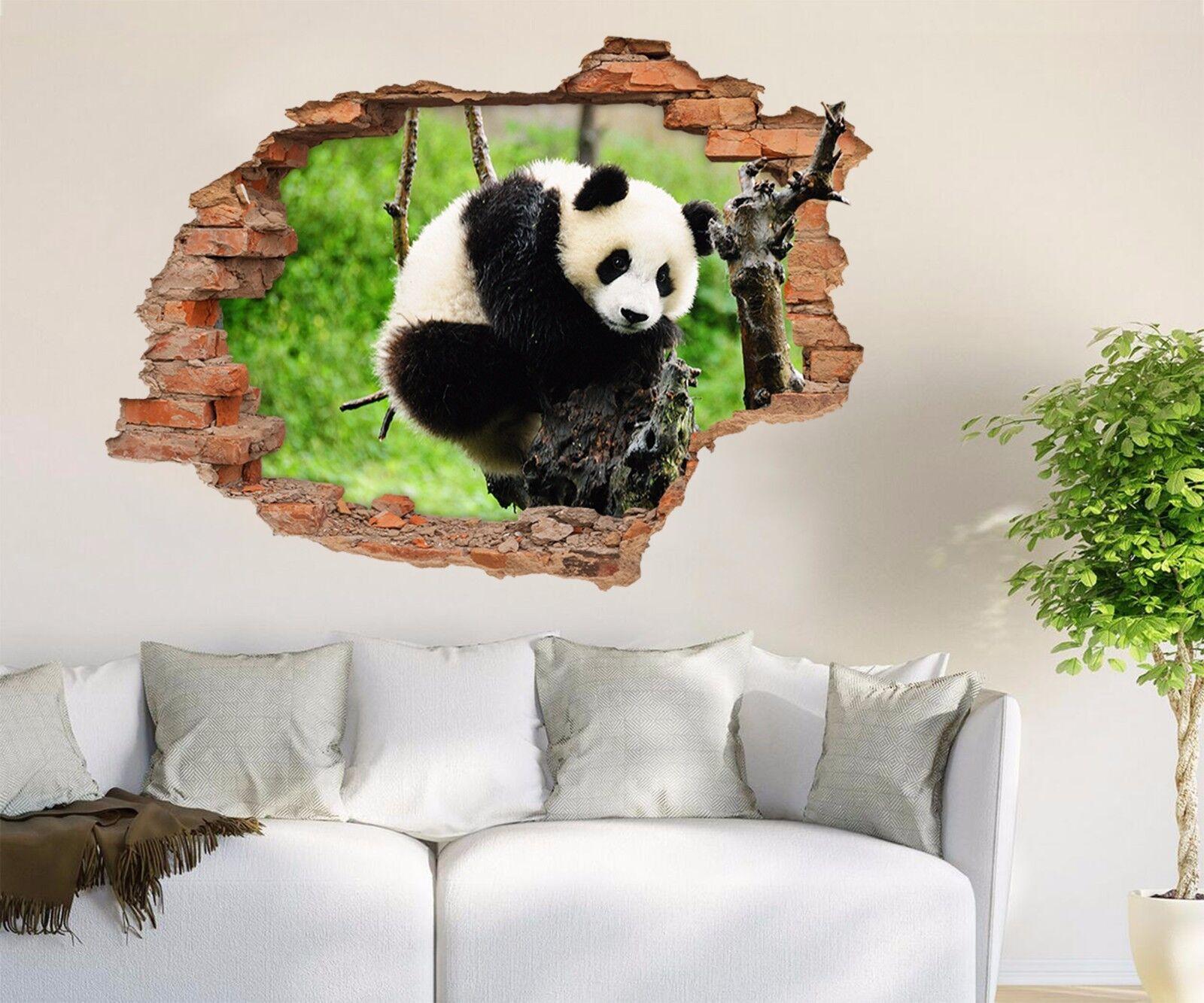 3D Netter Panda 833 Mauer Murals Mauer Aufklebe Decal Durchbruch AJ WALLPAPER DE