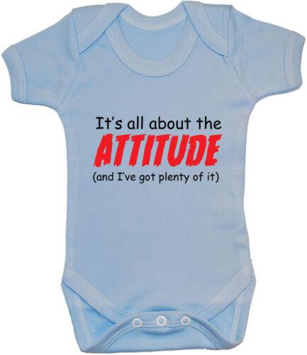 24 m Acce cadeau garçon fille drôle Attitude bébé grandir//Body//salopette//T-shirt-T-Shirt//gilet NB