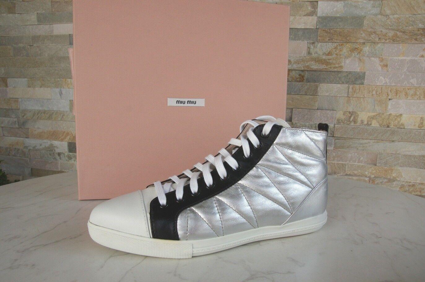 Descuento de la marca Barato y cómodo Miu Miu gr 38,5 High-top Zapatillas Zapatos Zapatos 5t9039 multicolor NUEVO