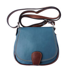 Borsa a Tracolla Cuoio Pelle Leather Crossbody bag Italian Made In Italy B024dcb