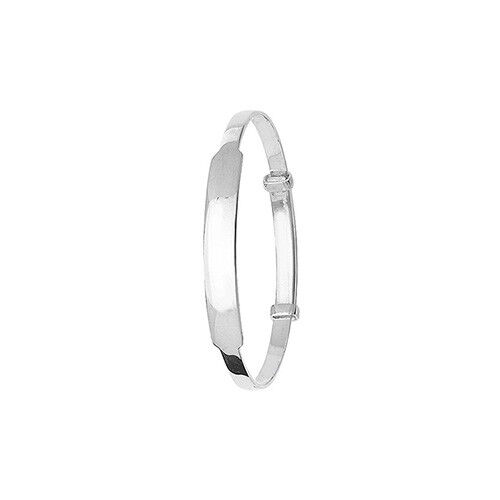 925 Sterling Silver Personalised Baby Identity Bangle 5.5 Hallmarked 4.50gr