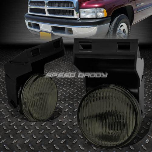 FOR 94-02 DODGE RAM 1500 2500 3500 SMOKED LENS BUMPER DRIVING FOG LIGHT LAMPS