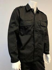 Mens-Battle-Army-Style-Dress-Uniform-Shirt-Tactical-Top-Shirt-Black-Size-S-2XL
