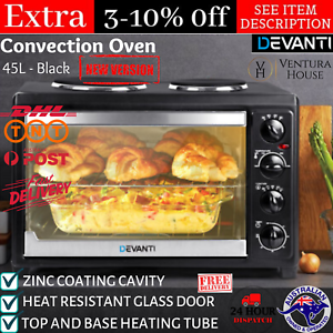 45L Convention Oven Bench Top Multi Ventilation Hotplates Countertop Baking New