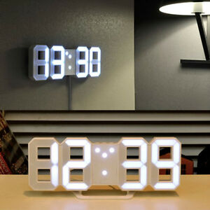 Details About Mooas Led Clock Standing Hanging Mode Alarm Wall Digital Home Decor