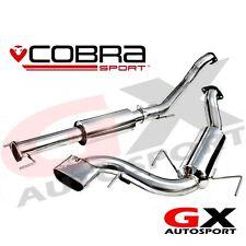 "VX72 Cobra Sport Vauxhall Astra H VXR 05-11 Cat Back Exhaust 2.5"" bore Resonated"