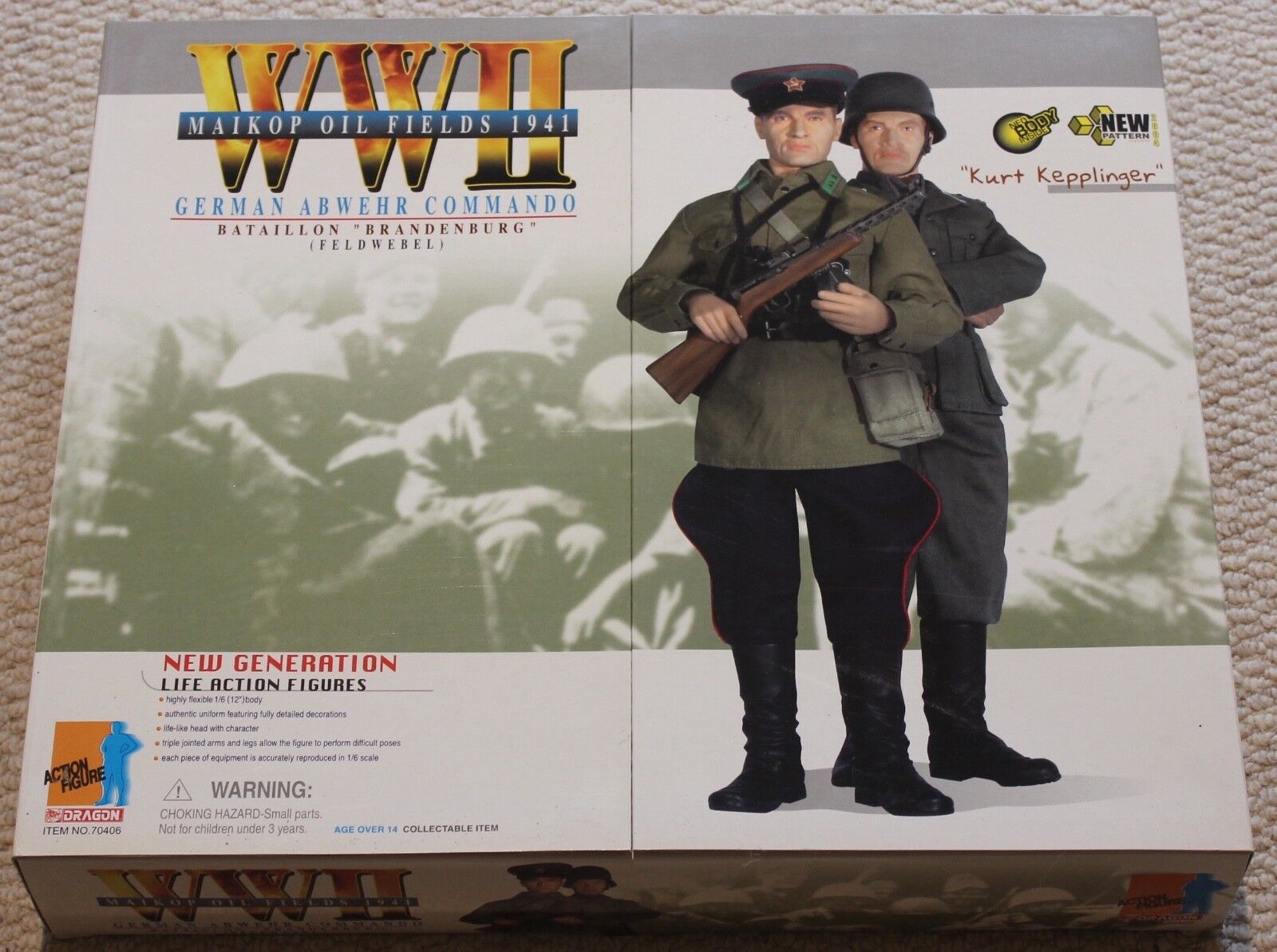 Dragon action figure ww11 german kurt  1 6 12'' boxed  did cyber hot toy