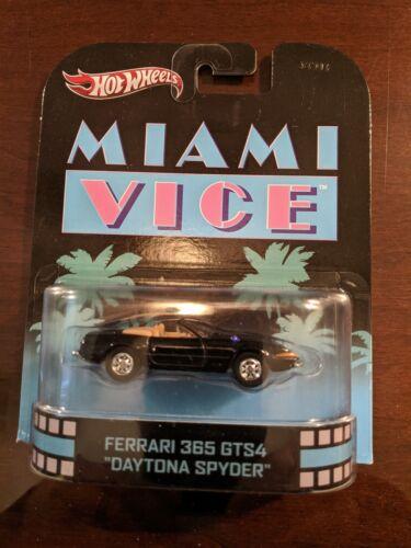 Crocketts Daytona Spyder 1:64 MiamiViceSeason 1-3 Hot Wheels Ferrari MIAMI VICE