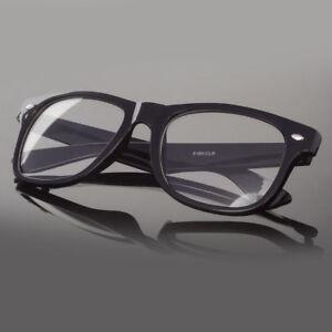 Fashion-Retro-Vintage-Unisex-Mens-Womens-Clear-Lens-Nerd-Geek-Glasses-Eyewear