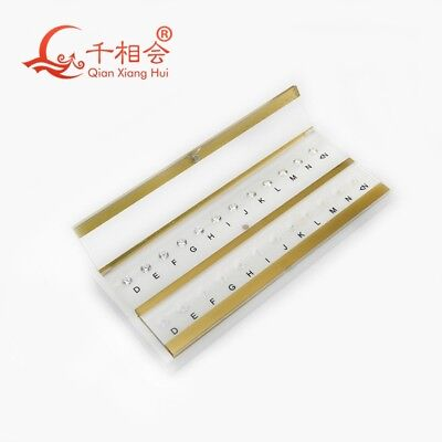 Refer to GIA Standard D-M 10 Color Stone CZ Master Grading Set Without Laser