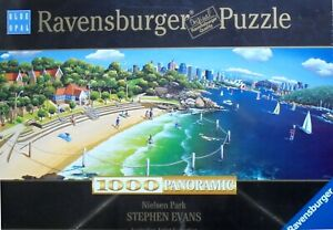 Ravensburger-902286-Puzzle-1000-Pieces-Nielsen-Park-Stephen-Evans-Panoramic-Blue