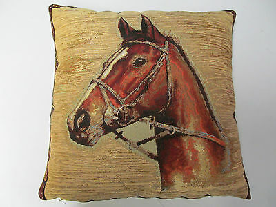 Tapestry Horse Cushion Cover Pillow Case 43cm Ideal for Home or as Gift UK MADE
