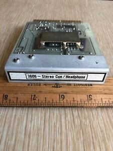 Be Broadcast Electronics 3606 Spotmaster Stéréo Cue/écouteurs Amp Carte-afficher Le Titre D'origine