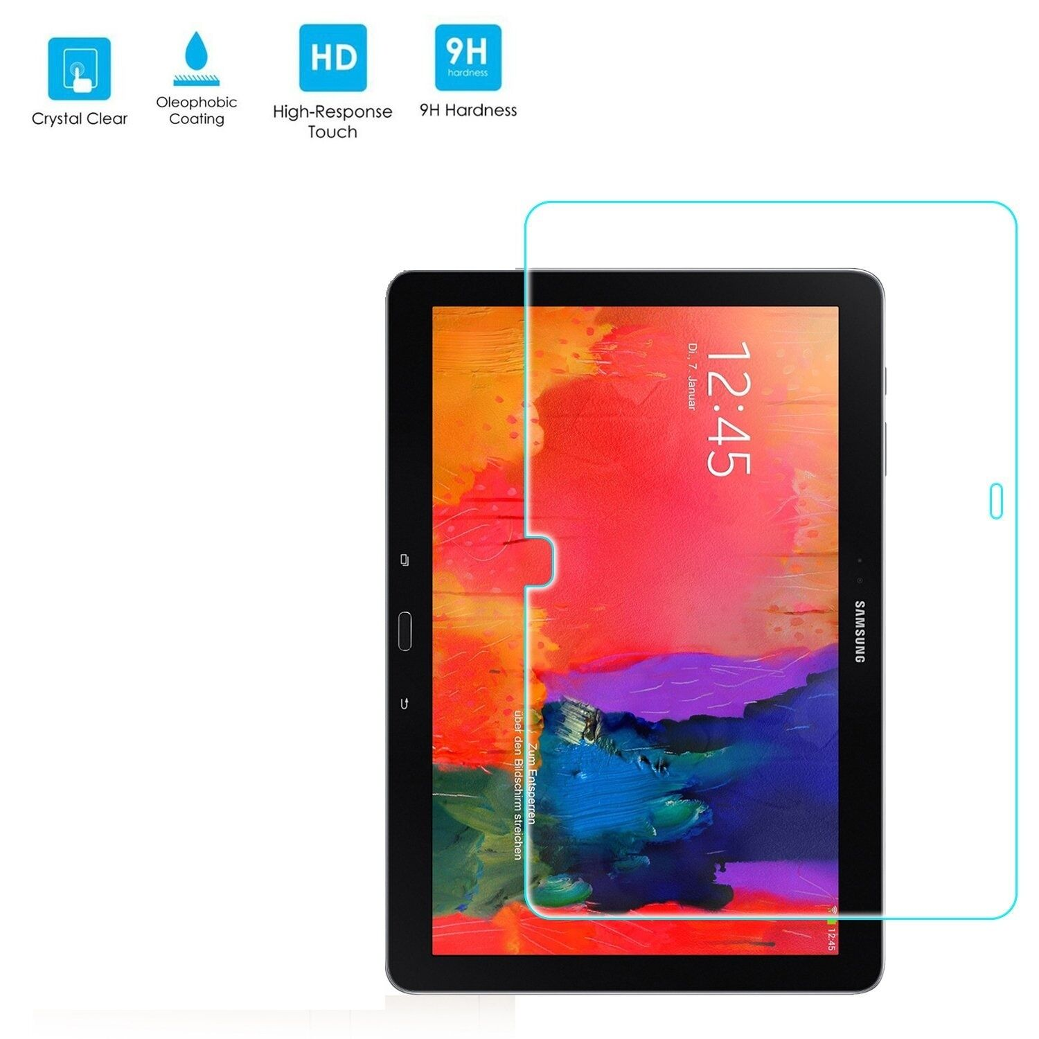 Tempered Glass Tablet Screen Protector Film For Samsung Galaxy Tab Pro 10.1