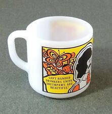 Federal Glass Cup Mug Left Handed Drinkers Unite Southpaws Are Beautiful EUC