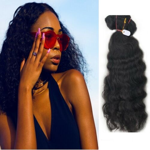 """Indian Human Hair Extensions Remy Kinky Frizzy Curly Hair 4C 4B Weft 13/"""" to 17/"""""""