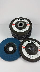 10 x Fächerscheiben, Schleifmopteller Ø125 gerade, blau, Korn 120, KF450