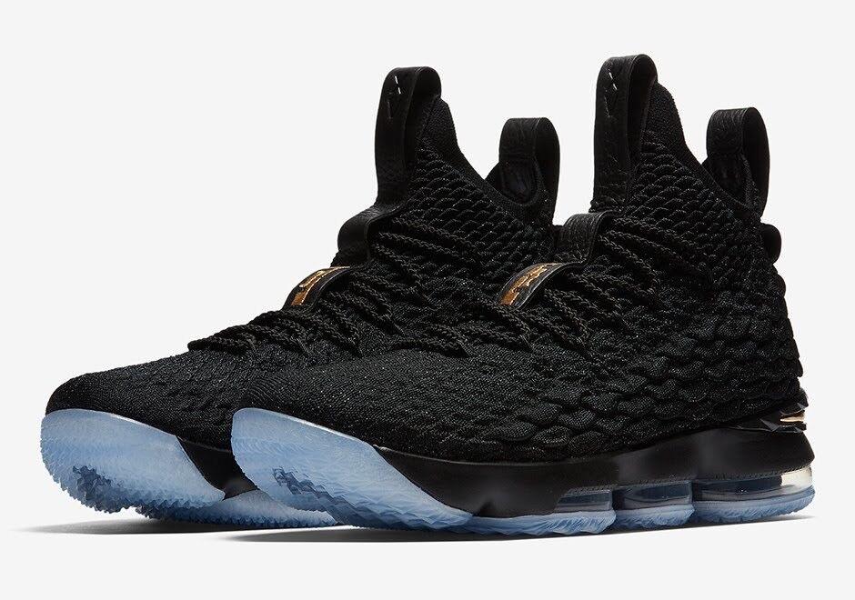 Nike LeBron XV 15 Black gold 9 897648 006 Cavs JE ZOOM XVI What The PE Kith