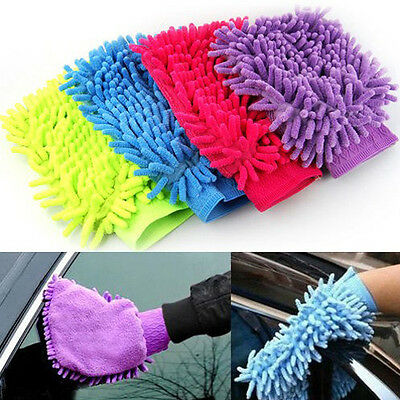 Super Microfiber Car Window Washing Home Cleaning Cloth Duster Towel Mitt Gloves