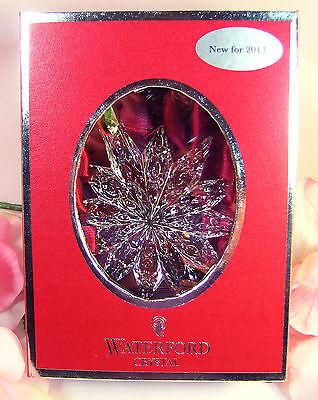 New Waterford Crystal 2013 Snowstar Annual Christmas Ornament /  Enhancer