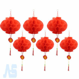 Image Is Loading 20pcs Chinese New Year Red Paper Lanterns 2
