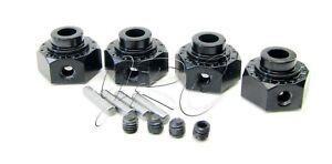 Axial-SMT10-Grave-Digger-HEX-HUBS-Blk-Aluminum-12mm-wraith-AX30429-AXI03019