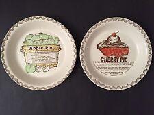 TWO PIE RECIPE PIE PLATES APPLE AND CHERRY PIE