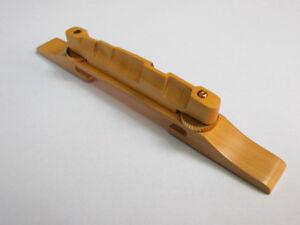 Guitar-Bridge-Boxwood-Archtop-model-with-Golden-hardware-GRETSCH-GIBSON-GUILD
