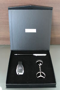 Genuine mercedes benz accessories gift box set usb stick for Mercedes benz flash drive with box