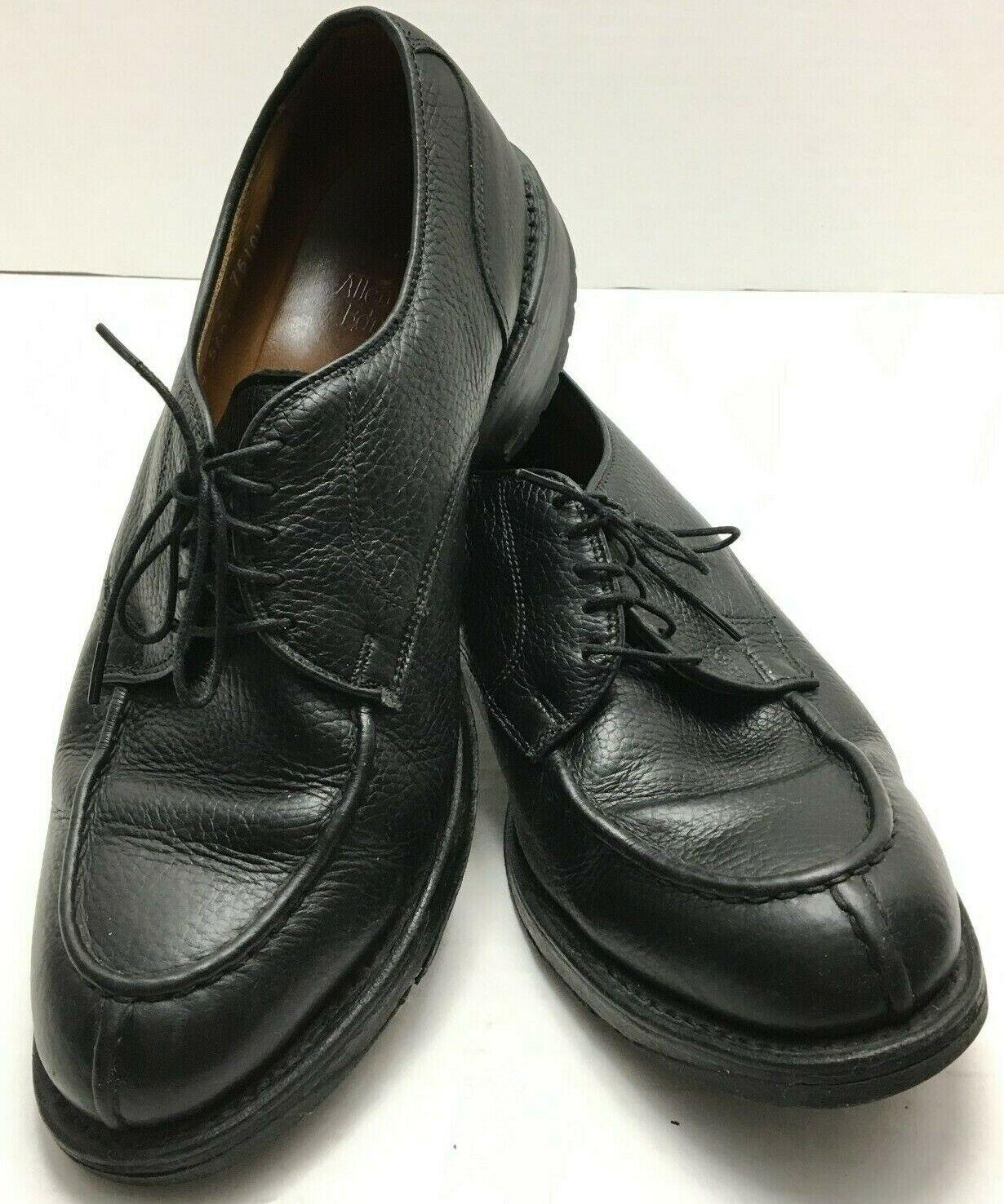 spedizione veloce in tutto il mondo Allen Allen Allen Edmonds Canton Uomo Sz 8.5 E nero Pebble Leather Split Toe Oxford scarpe  l'ultimo