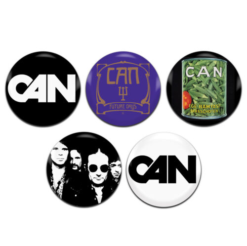 1 Inch D Pin Button Badges 5x Can Band Psychedelic Krautrock Rock 25mm