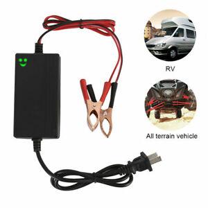 Chargeur-Batterie-Intelligent-Auto-Moto-Quad-Bateau-Voiture-12V-1-2A-15W