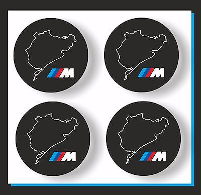 Adesivi repl BMW per coprimozzi ruote-clacson-ecc