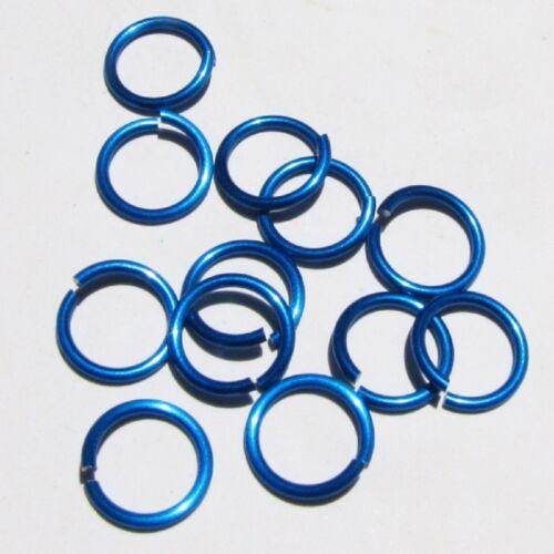 BLUE Anodized Aluminum JUMP RINGS 300 5//16 16g SAW CUT Chainmail chain mail