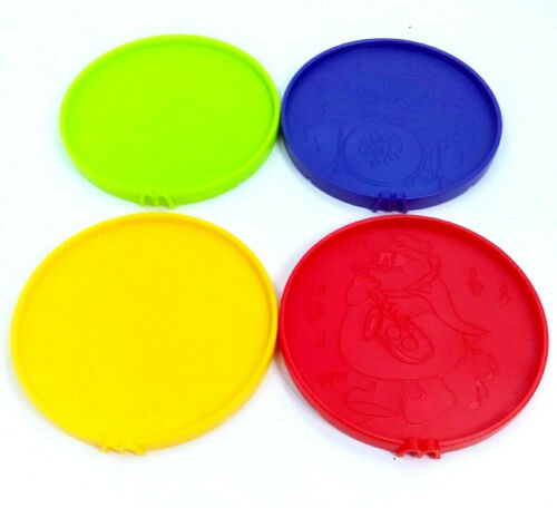 Green McDonalds Happy Meal RARE Red Drink Coasters 1995 Yellow Purple