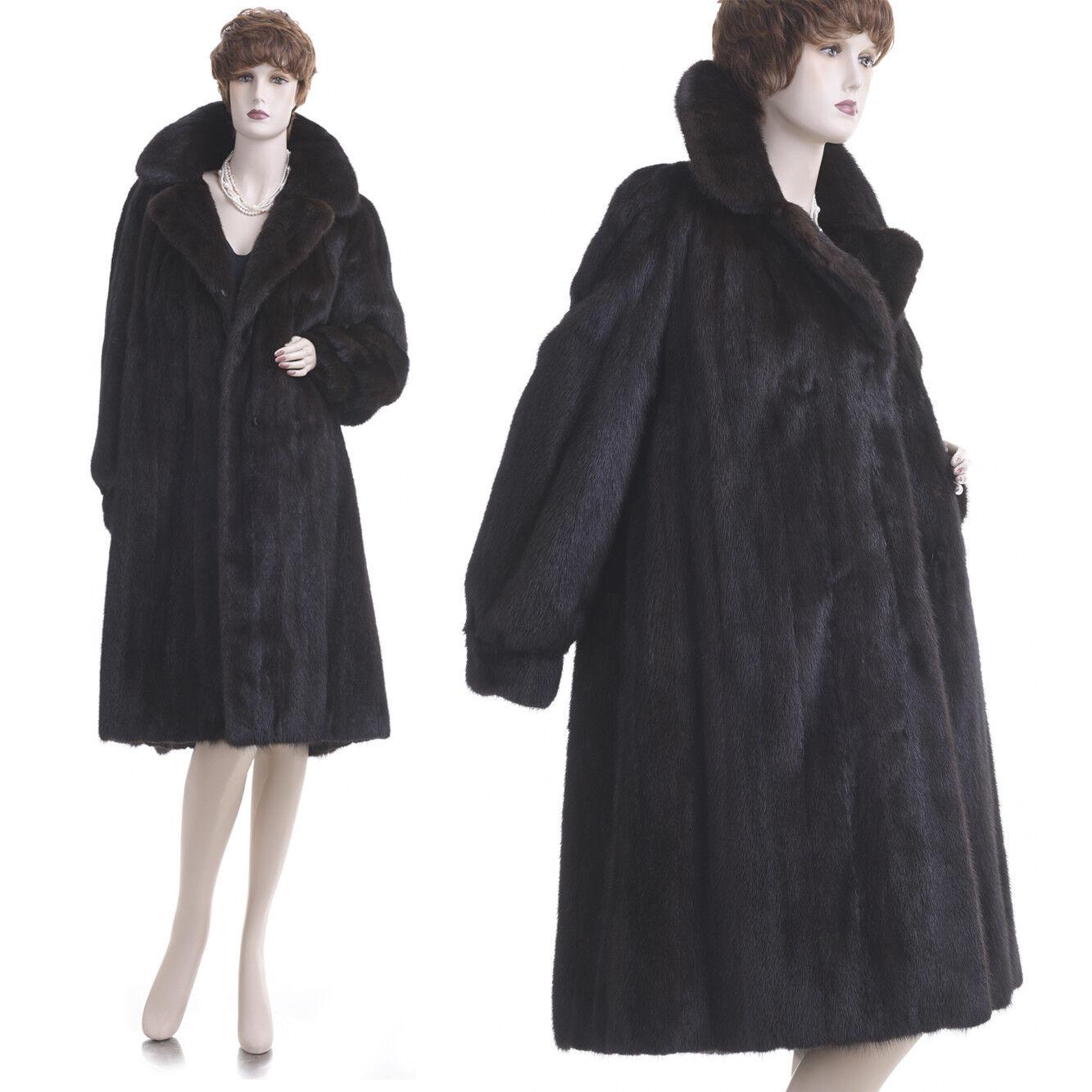 Mint  Large  High Grade Deep Mahogany Female Mink Fur Stroller Coat