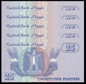 Egypt-25-Piast-5pcs-Running-Number-UNC-25