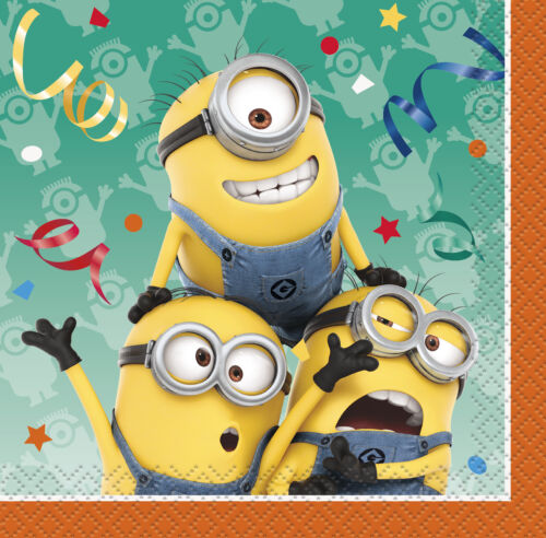 Minion Despicable Beverage Napkins 16ct  Birthday Party Favor Decoration Supply