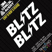 2 x Blitz Sticker Vinyl Car JDM skyline silvia EK9 EP3 S2000