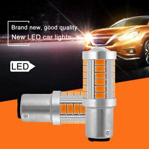 2-un-33-LED-Canbus-Libre-De-Error-BA15S-1156-P21W-Bombillas-Indicador-Ambar-Naranja