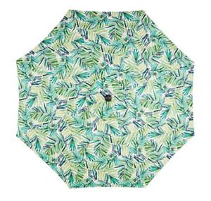Market Umbrella Mosaic 9/' Round Steel  Patio RV Park Beach Tropical Print No Tax